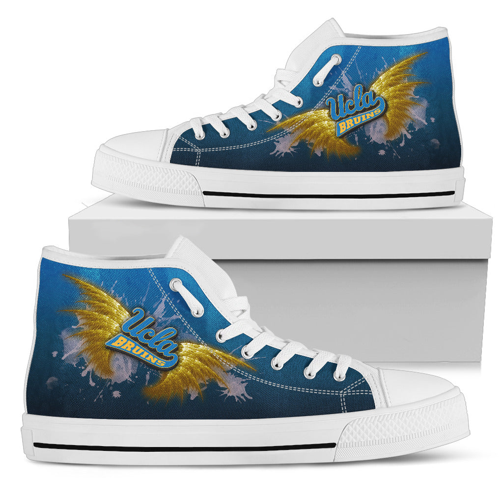 Angel Wings UCLA Bruins High Top Shoes