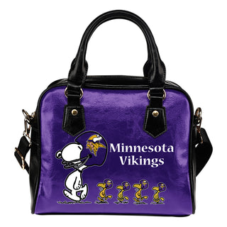 Lovely Animal Team Minnesota Vikings Shoulder Handbag