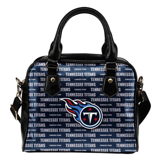 Nice Little Logo Tennessee Titans Shoulder Handbags