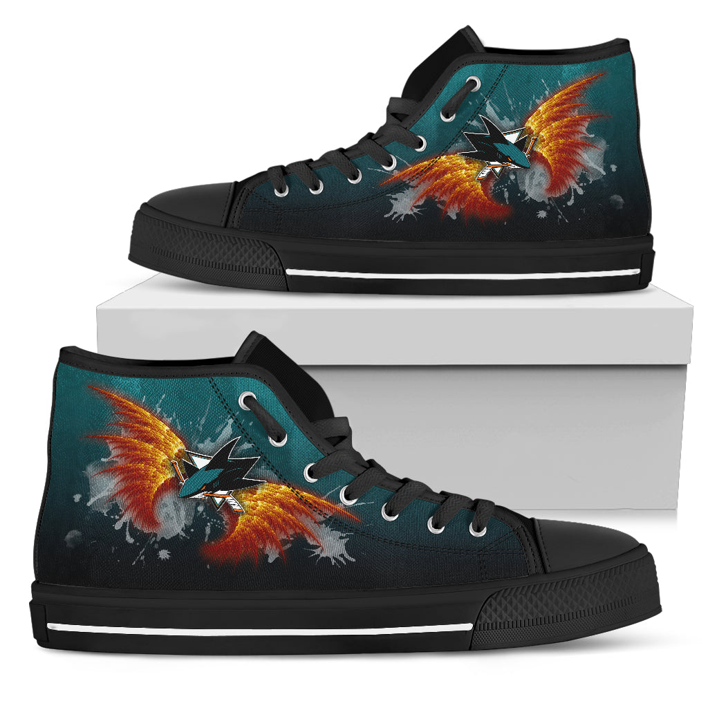 Angel Wings San Jose Sharks High Top Shoes