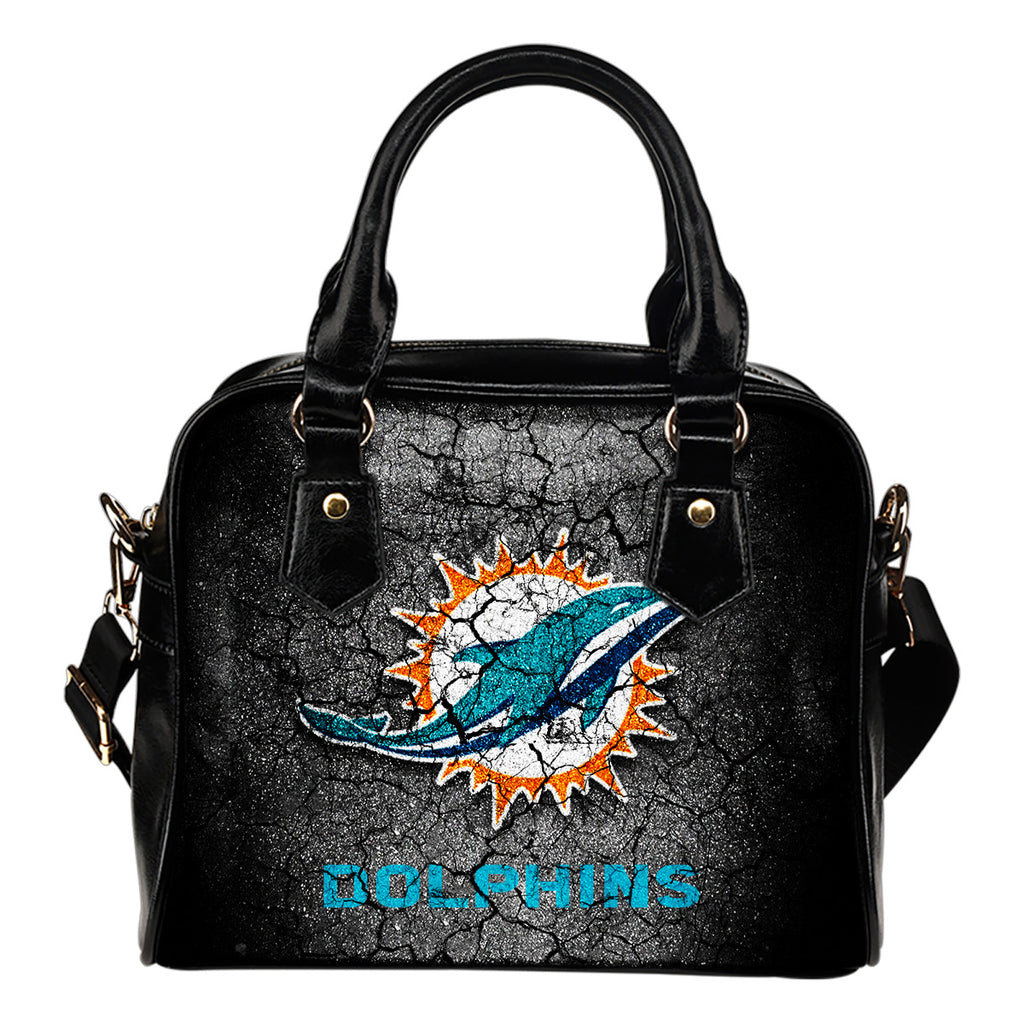 Wall Break Miami Dolphins Shoulder Handbags Women Purse