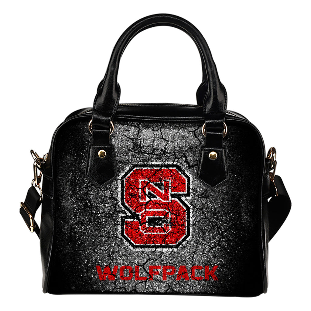 Wall Break North Carolina State Wolfpack Shoulder Handbags Women Purse
