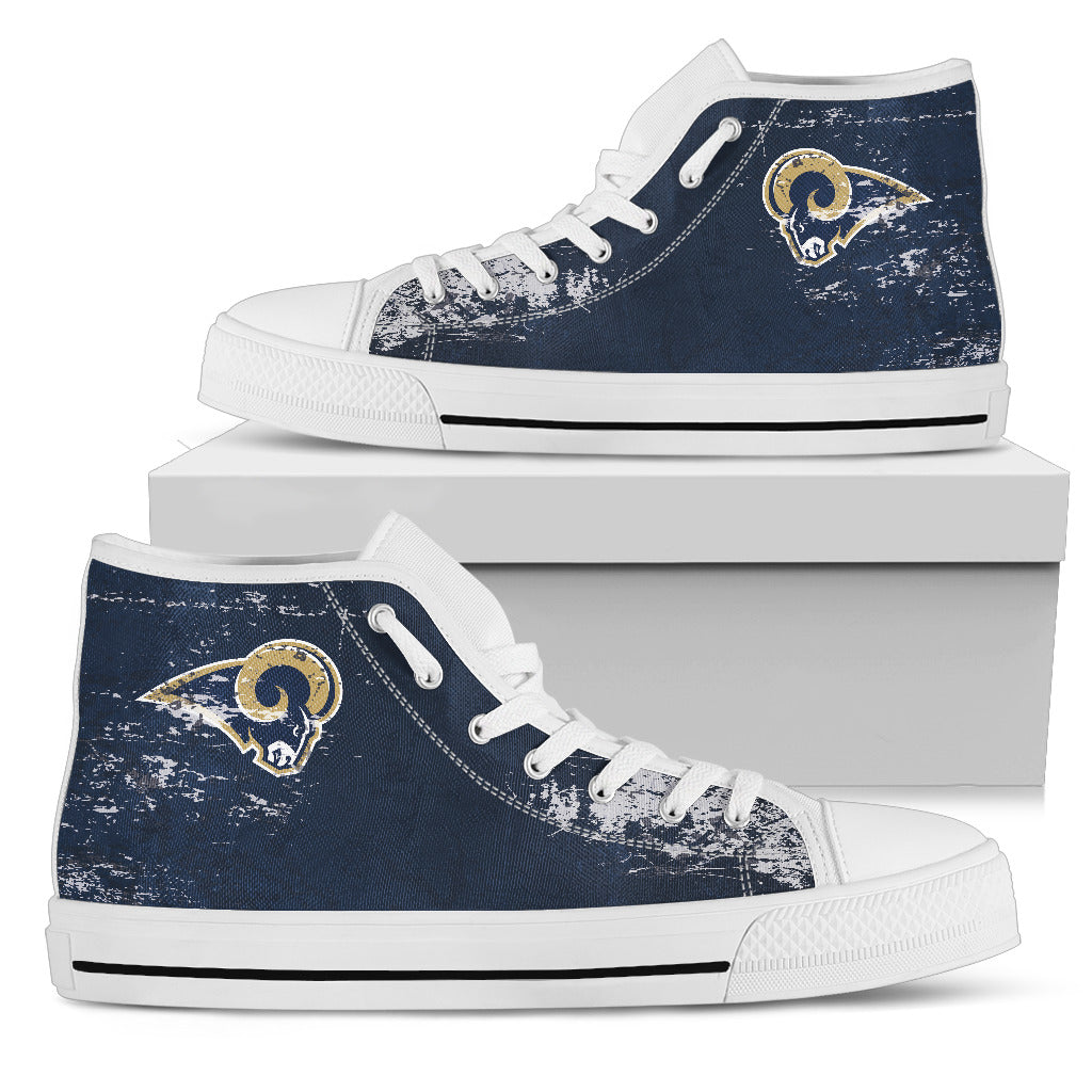Grunge Vintage Logo Los Angeles Rams High Top Shoes