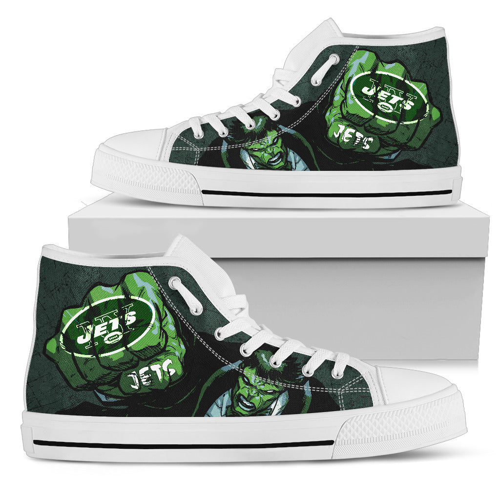 Hulk Punch New York Jets High Top Shoes