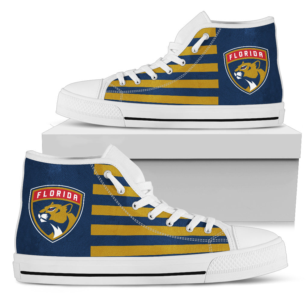 American Flag Florida Panthers High Top Shoes