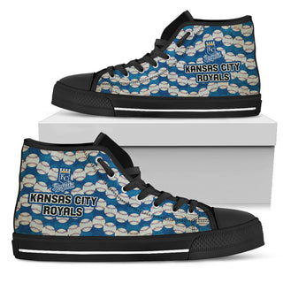 Wave Of Ball Kansas City Royals High Top Shoes