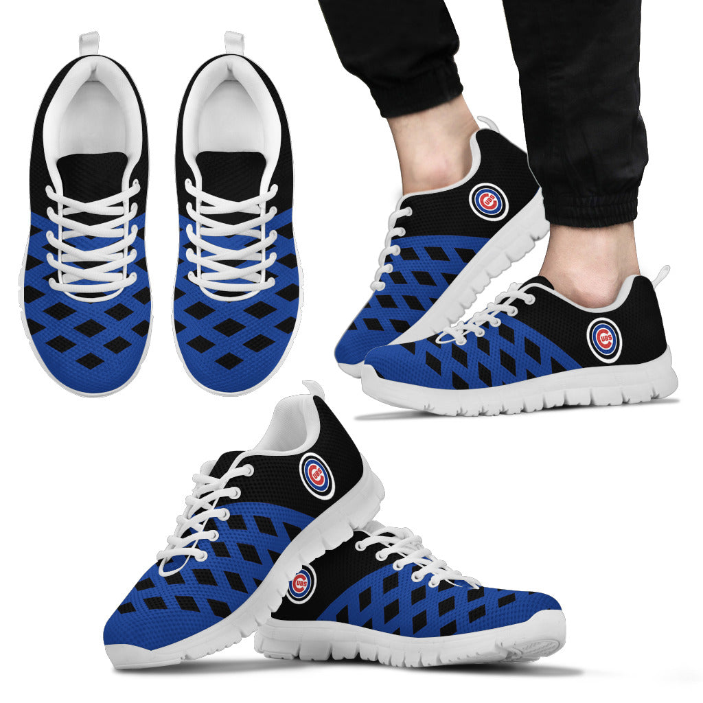 Two Colours Cross Line Chicago Cubs Sneakers