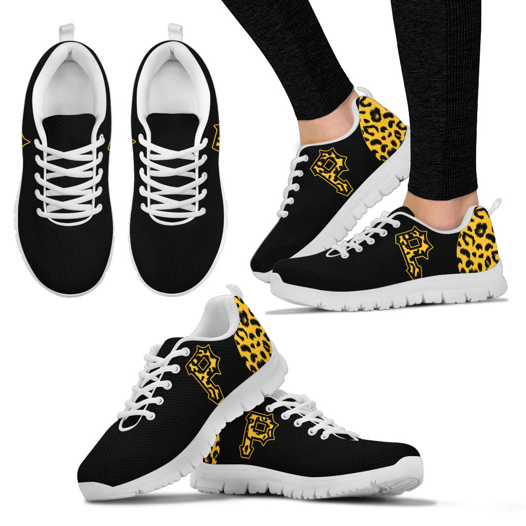 Cheetah Pattern Fabulous Pittsburgh Pirates Sneakers