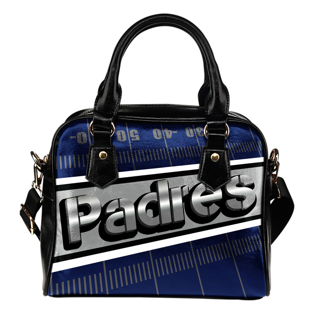 San Diego Padres Silver Name Colorful Shoulder Handbags