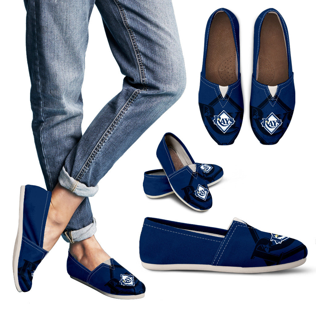 Enormous Logo Mix Tiny Logo Fantastic Tampa Bay Rays Casual Shoes