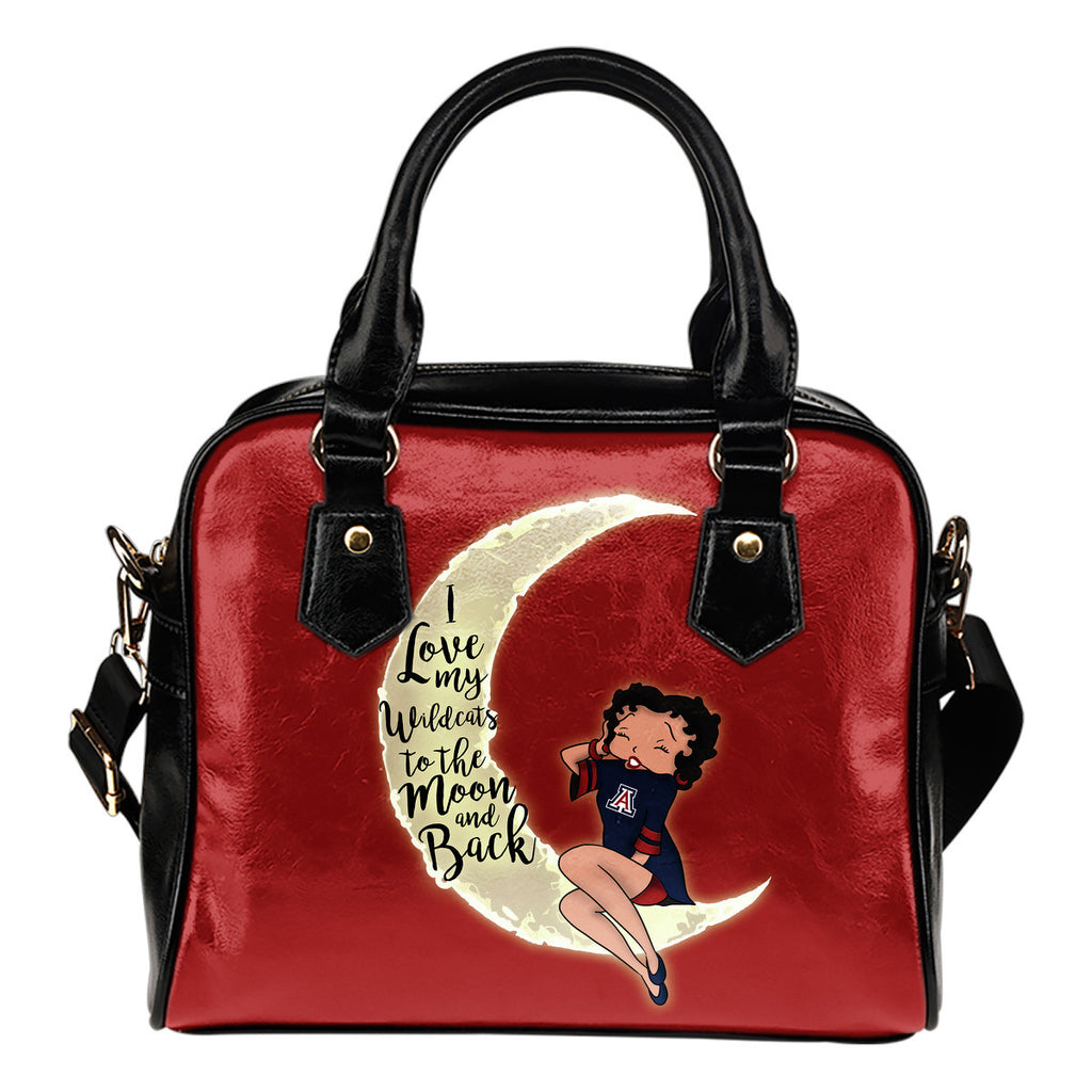 I Love My Arizona Wildcats To The Moon And Back Shoulder Handbags - Best Funny Store