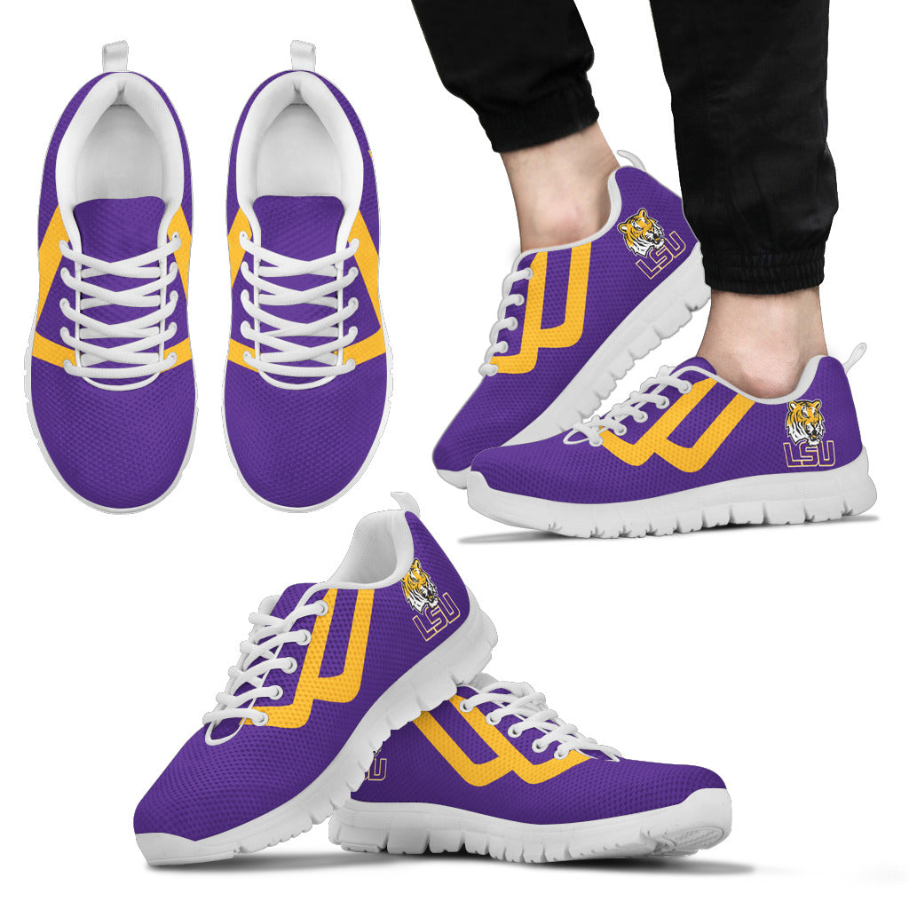 Line Bottom Straight LSU Tigers Sneakers