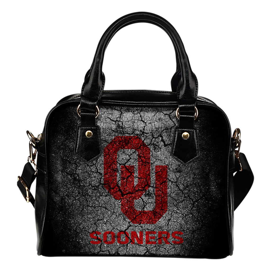 Wall Break Oklahoma Sooners Shoulder Handbags Women Purse