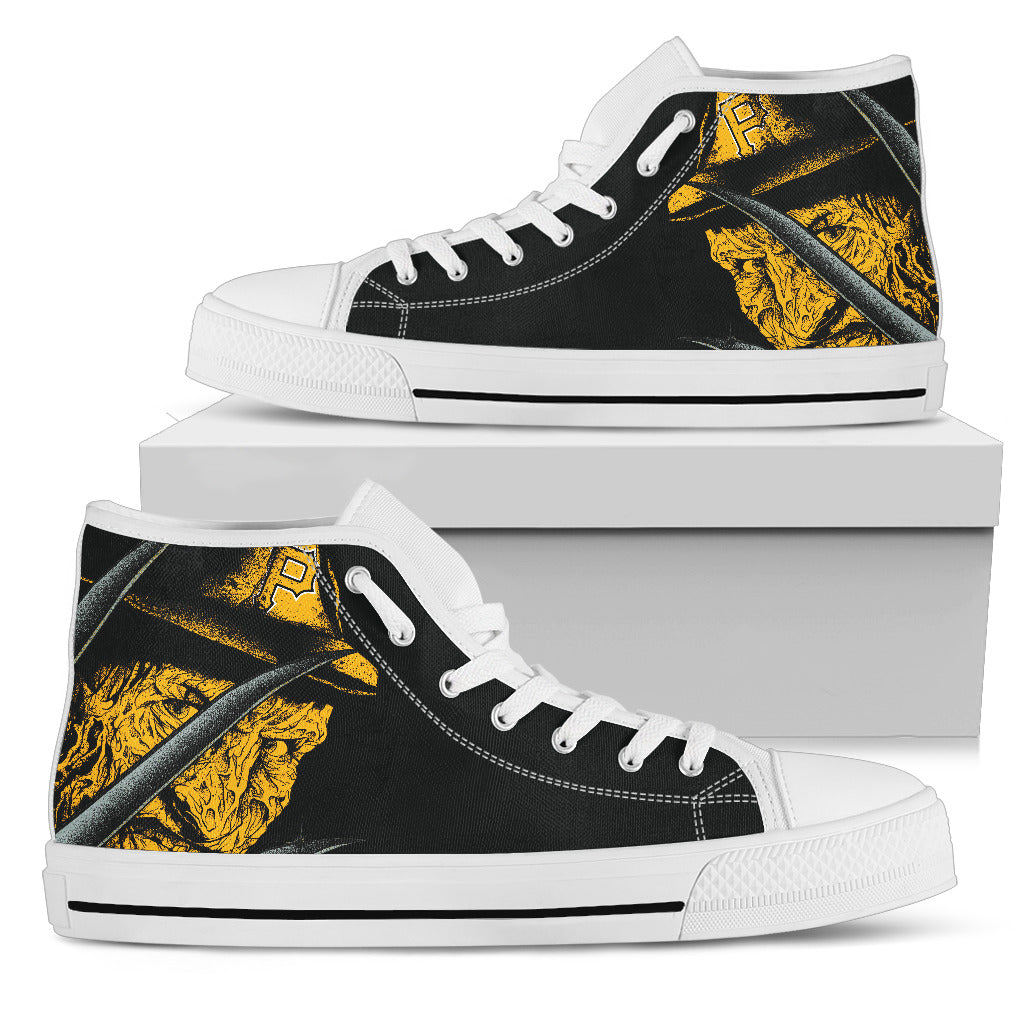Pittsburgh Pirates Nightmare Freddy Colorful High Top Shoes