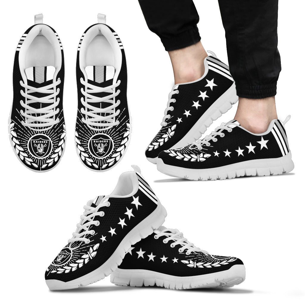 Line Of Stars Victory Oakland Raiders Sneakers