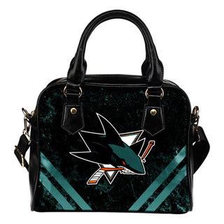 Couple Curves Light Good Logo San Jose Sharks Shoulder Handbags