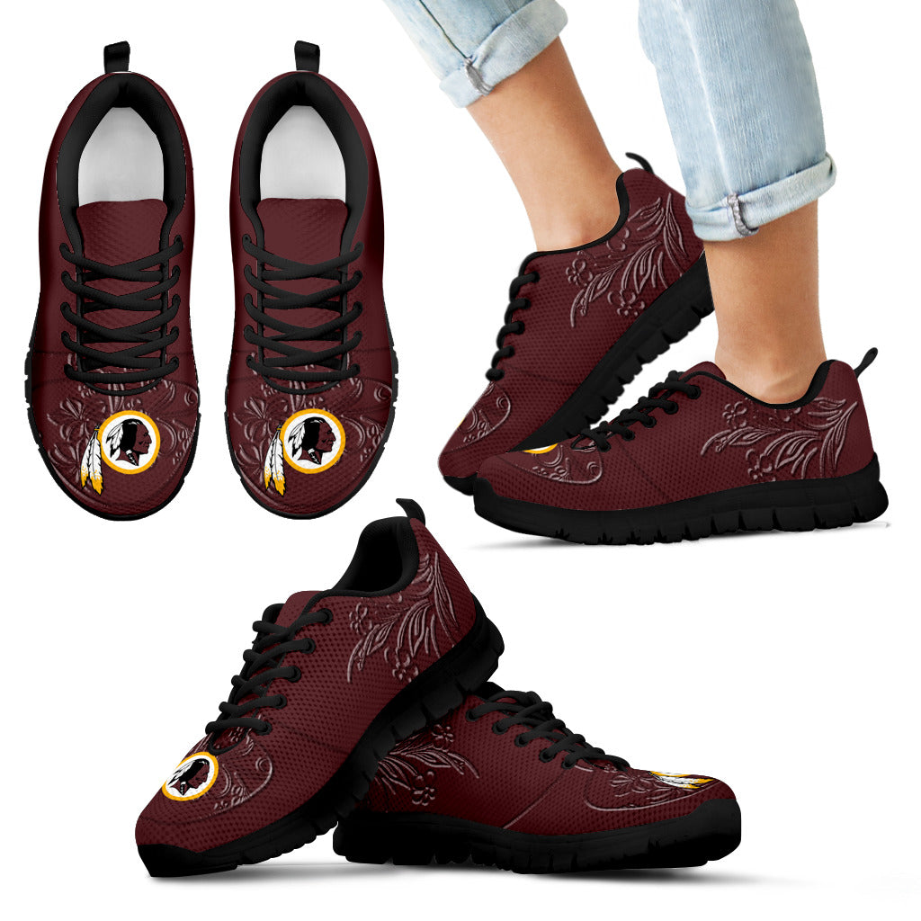 Lovely Floral Print Washington Redskins Sneakers