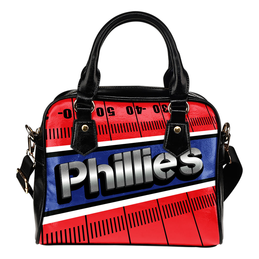 Philadelphia Phillies Silver Name Colorful Shoulder Handbags