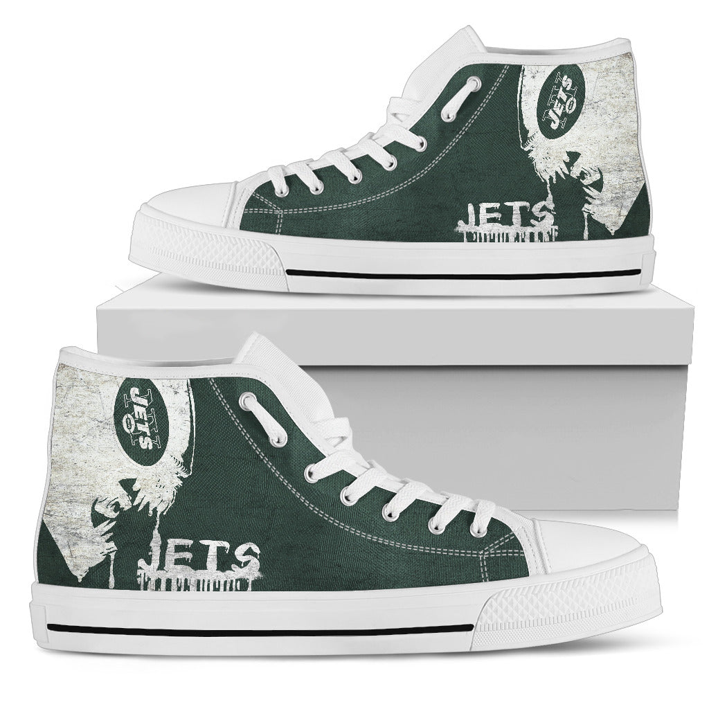 Alien Movie New York Jets High Top Shoes