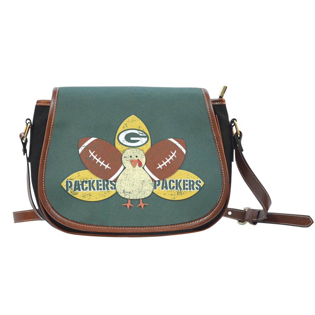 Thanksgiving Green Bay Packers Saddle Bags - Best Funny Store