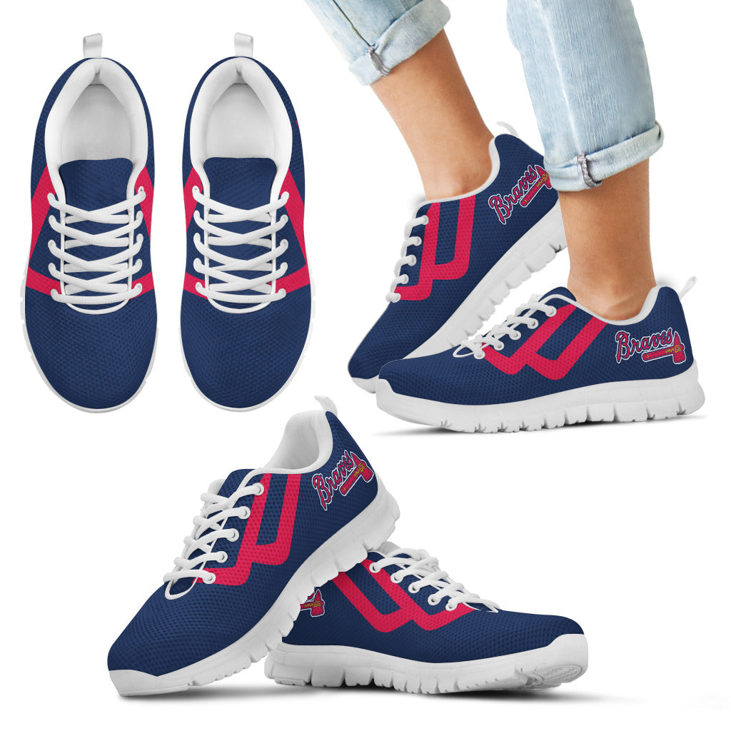 Line Bottom Straight Atlanta Braves Sneakers