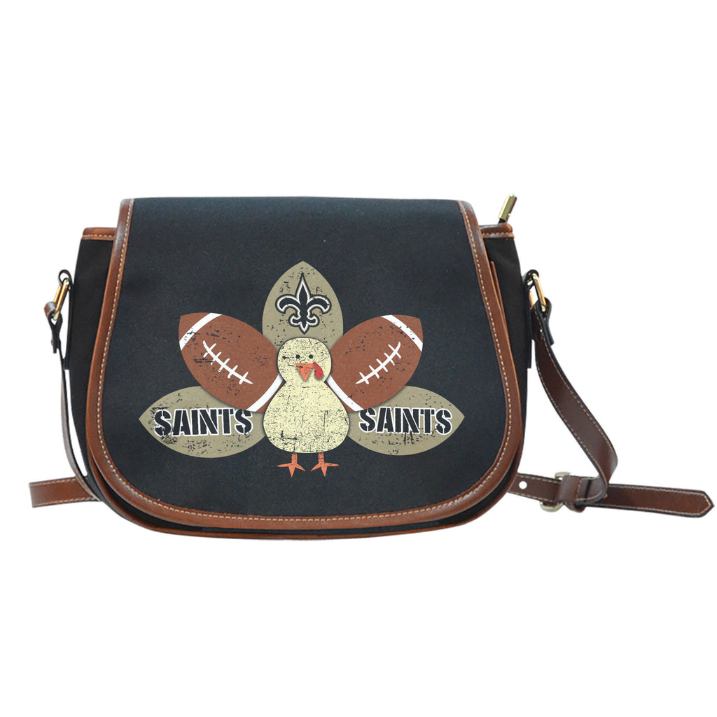 Thanksgiving New Orleans Saints Saddle Bags - Best Funny Store