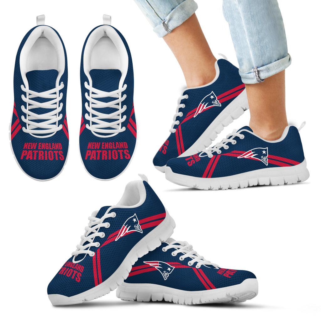 New England Patriots Parallel Line Logo Sneakers