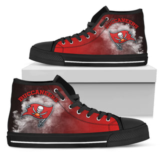 White Smoke Vintage Tampa Bay Buccaneers High Top Shoes