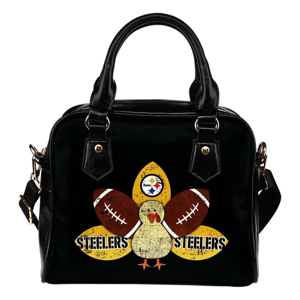 Thanksgiving Pittsburgh Steelers Shoulder Handbags - Best Funny Store