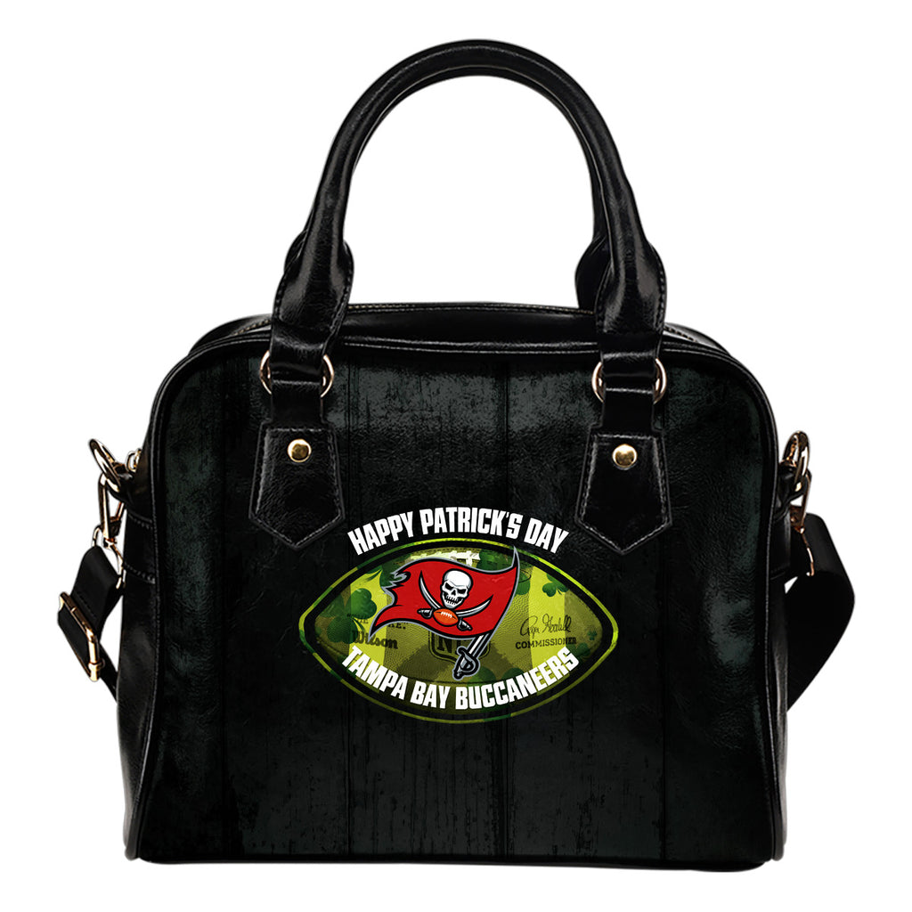 Retro Scene Lovely Shining Patrick's Day Tampa Bay Buccaneers Shoulder Handbags
