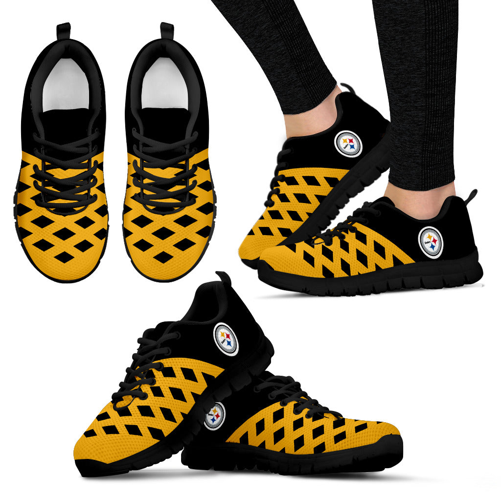 Two Colours Cross Line Pittsburgh Steelers Sneakers