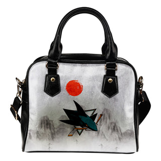 Calligraphy Ancient Logo Mysterious San Jose Sharks Shoulder Handbags