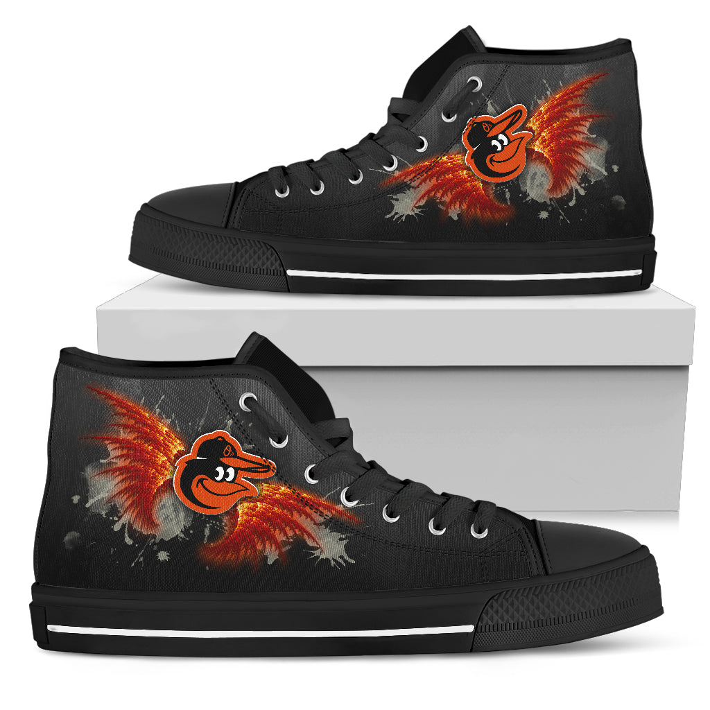 Angel Wings Baltimore Orioles High Top Shoes