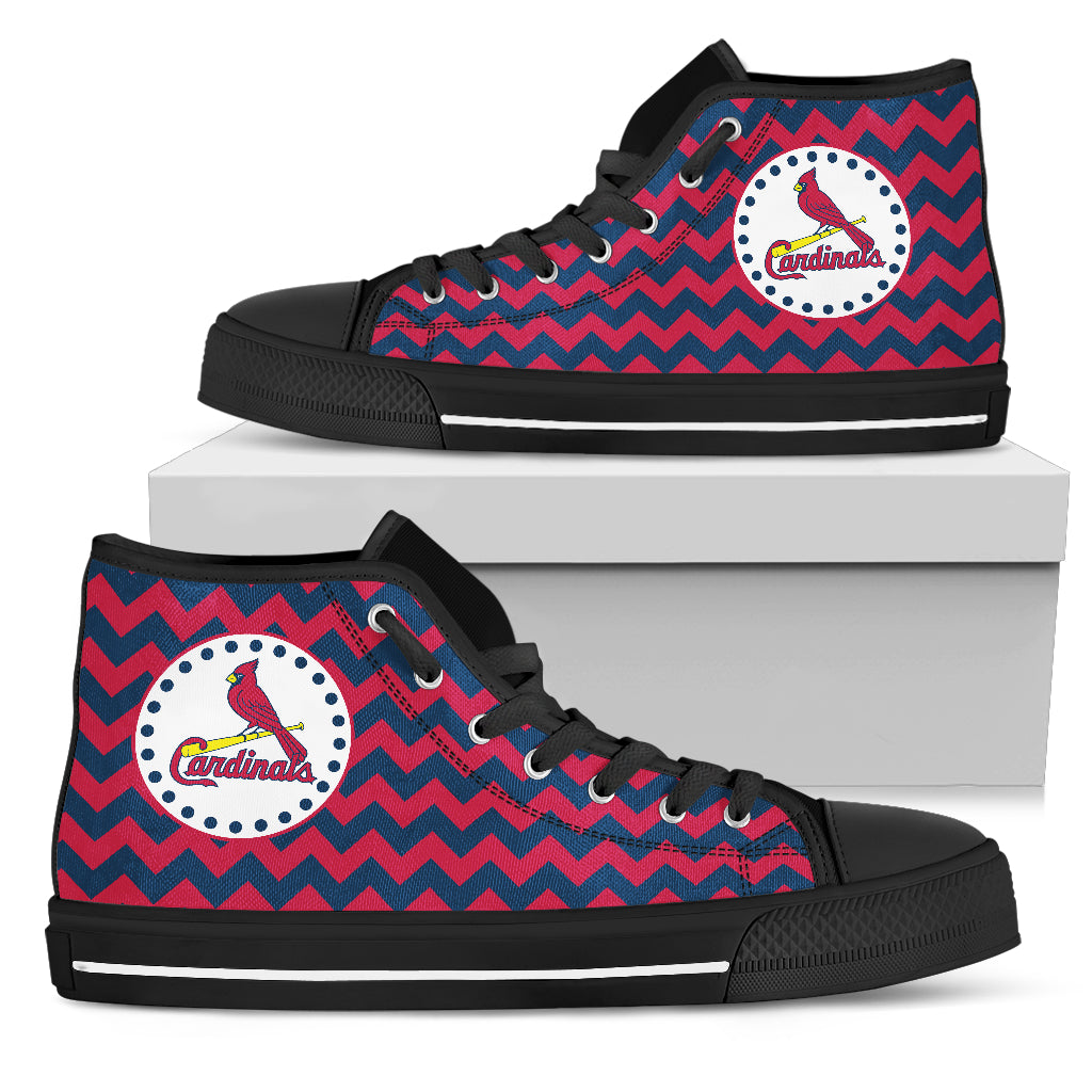 Chevron Broncos St. Louis Cardinals High Top Shoes