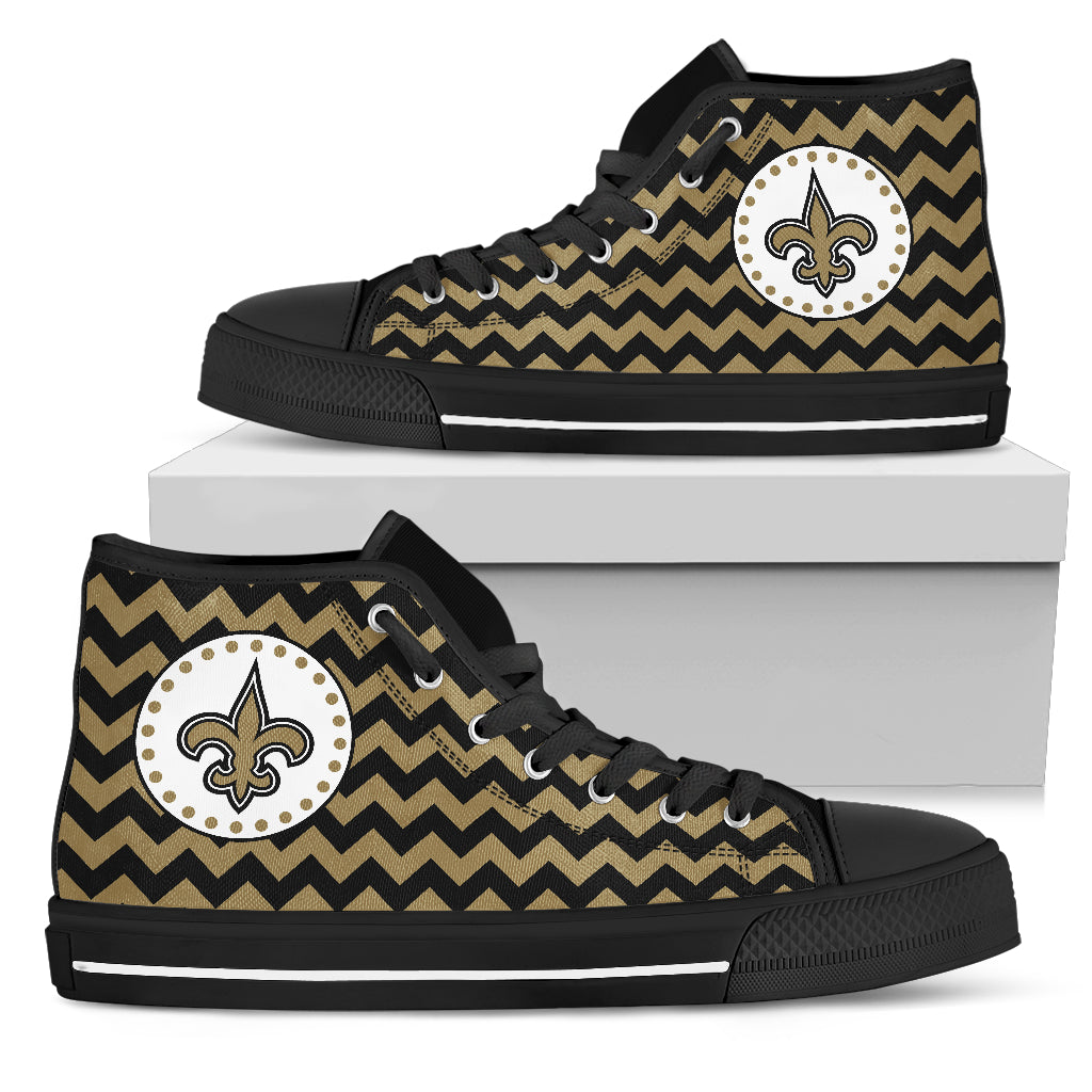 Chevron Broncos New Orleans Saints High Top Shoes
