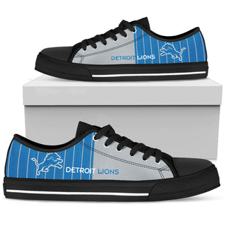 Simple Design Vertical Stripes Detroit Lions Low Top Shoes