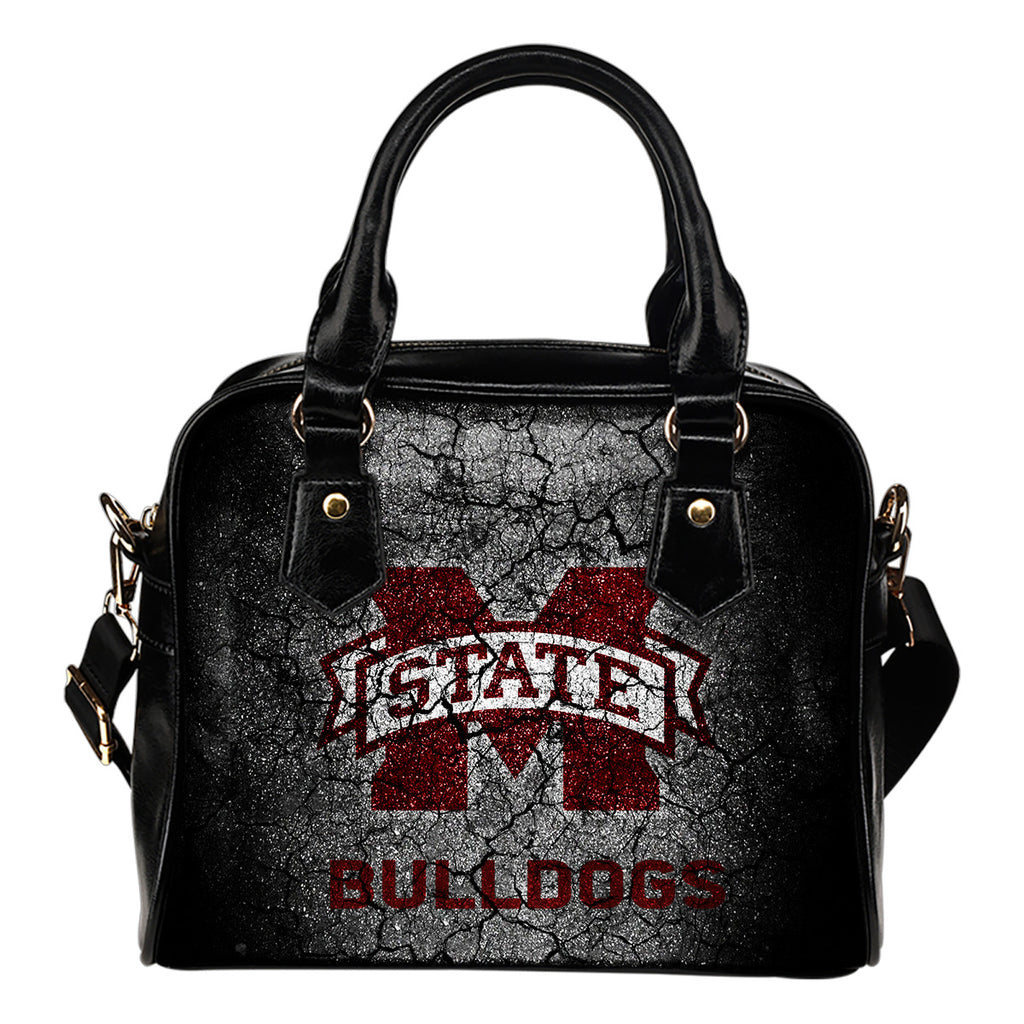 Wall Break Mississippi State Bulldogs Shoulder Handbags Women Purse