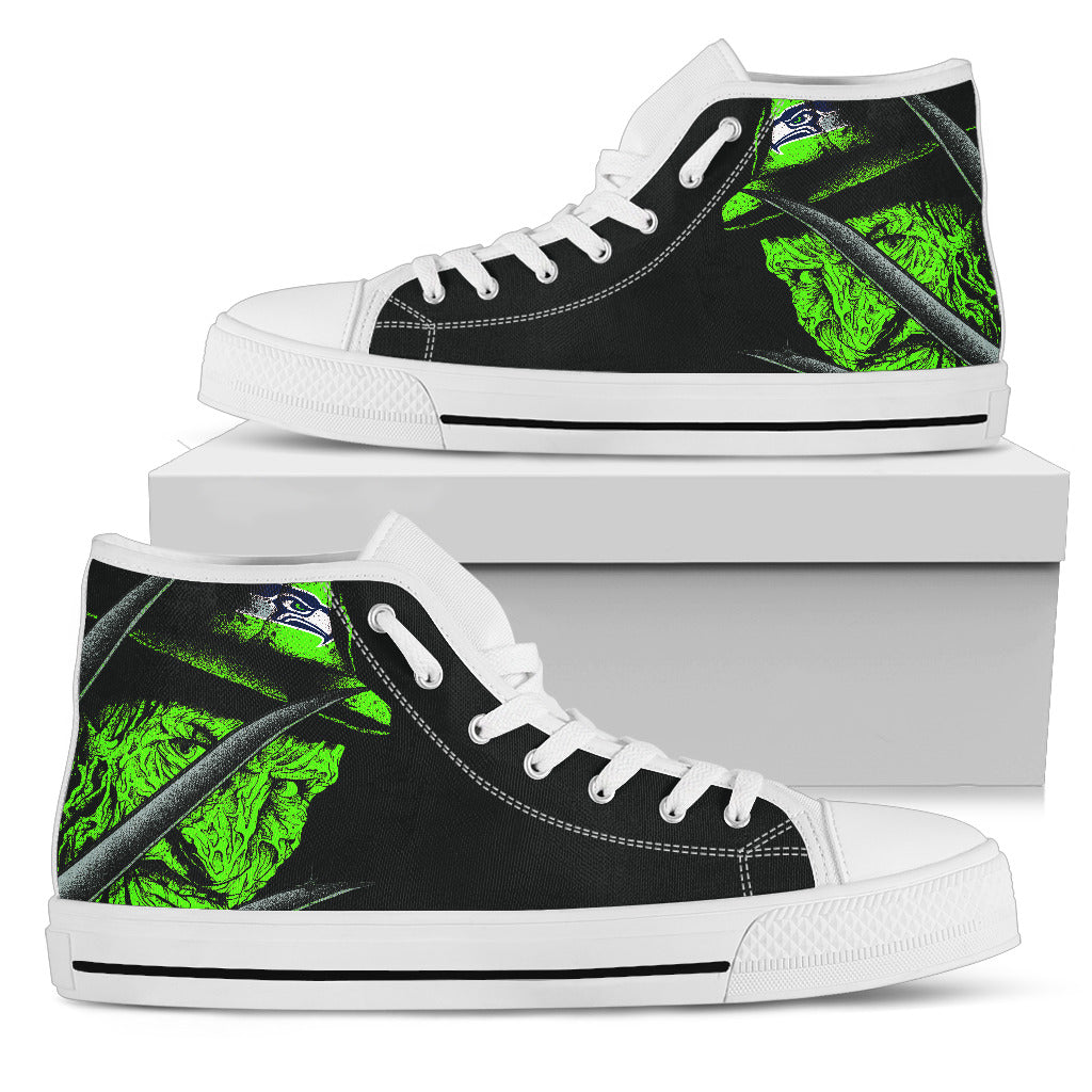 Seattle Seahawks Nightmare Freddy Colorful High Top Shoes