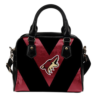 Triangle Double Separate Colour Arizona Coyotes Shoulder Handbags