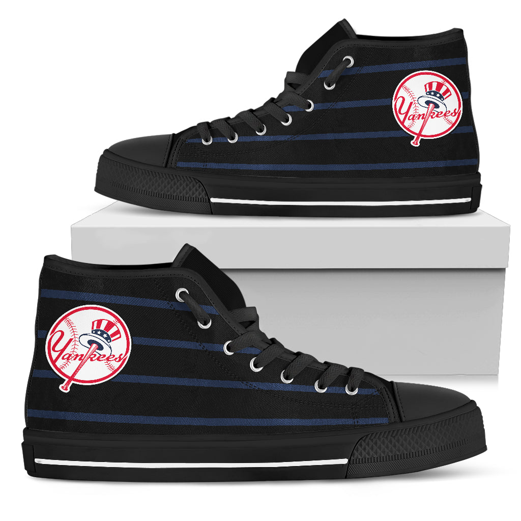 Edge Straight Perfect Circle New York Yankees High Top Shoes