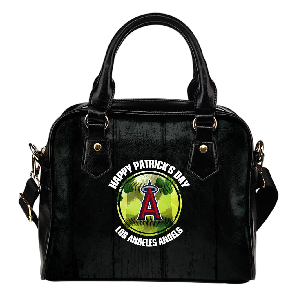 Retro Scene Lovely Shining Patrick's Day Los Angeles Angels Shoulder Handbags