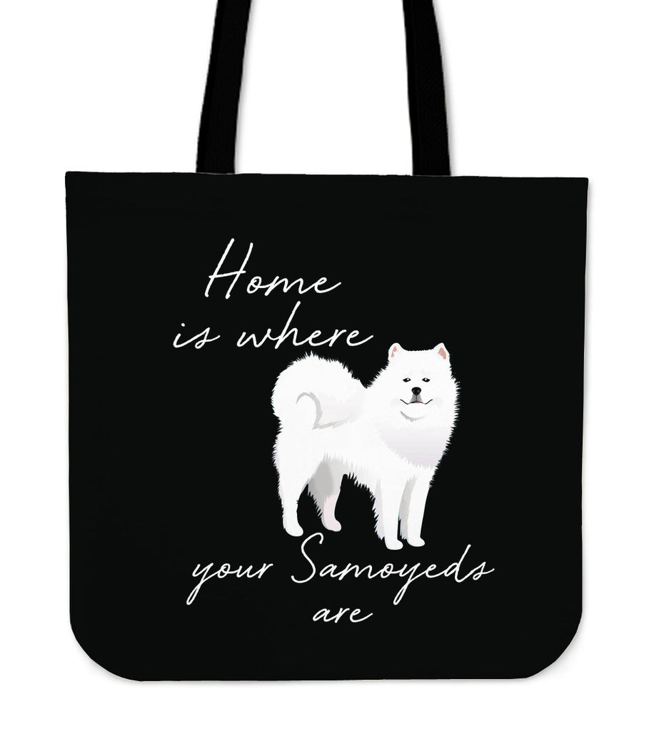 Home Is Where My Samoyeds Are Tote Bags
