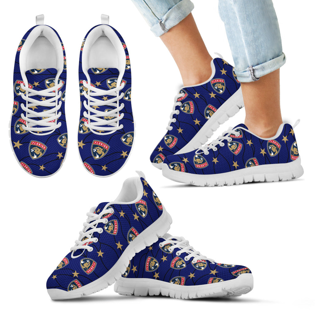 Star Twinkle Night Florida Panthers Sneakers