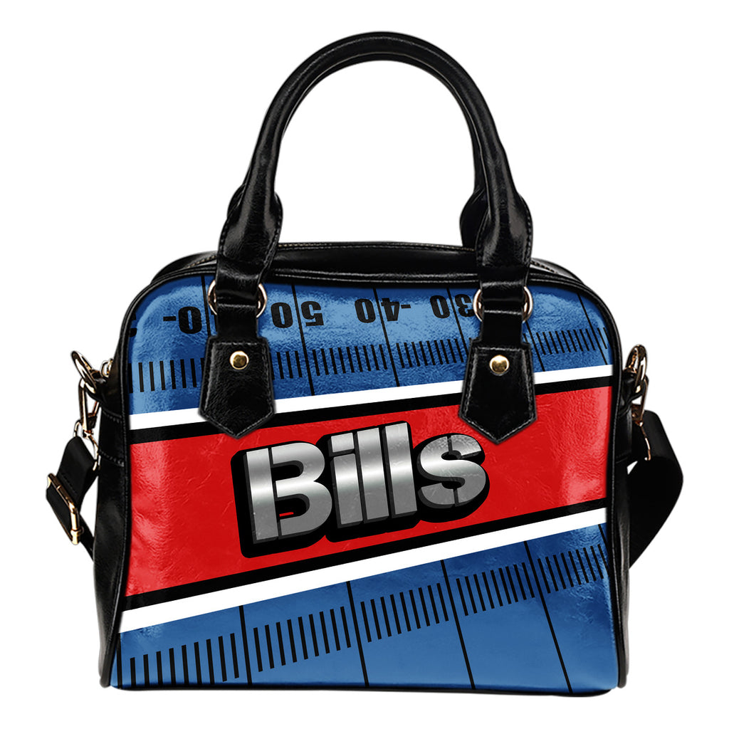 Buffalo Bills Silver Name Colorful Shoulder Handbags