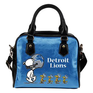 Lovely Animal Team Detroit Lions Shoulder Handbag