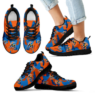 Miami Marlins Cotton Camouflage Fabric Military Solider Style Sneakers