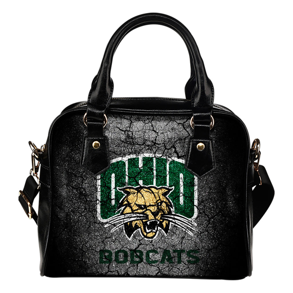 Wall Break Ohio Bobcats Shoulder Handbags Women Purse