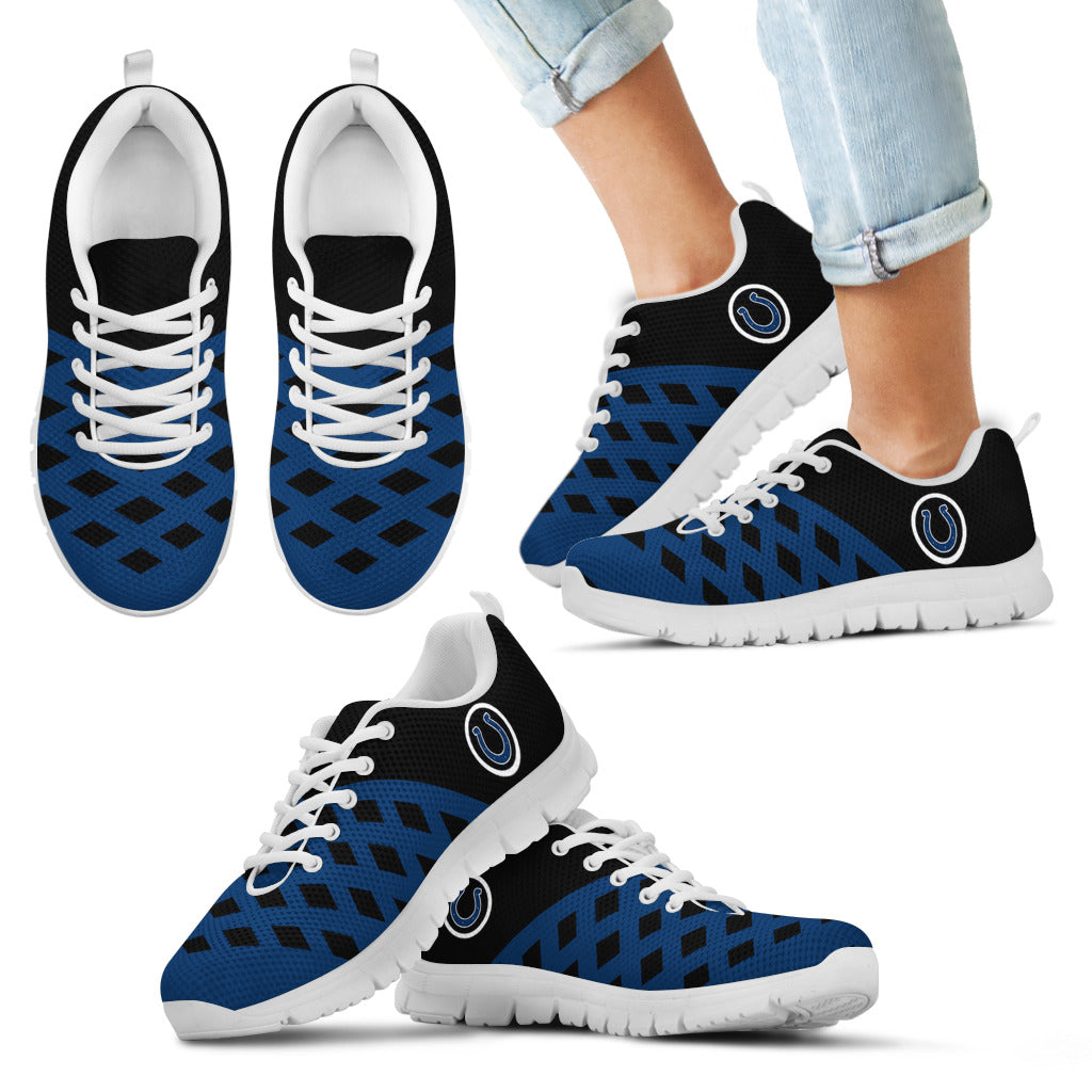 Two Colours Cross Line Indianapolis Colts Sneakers