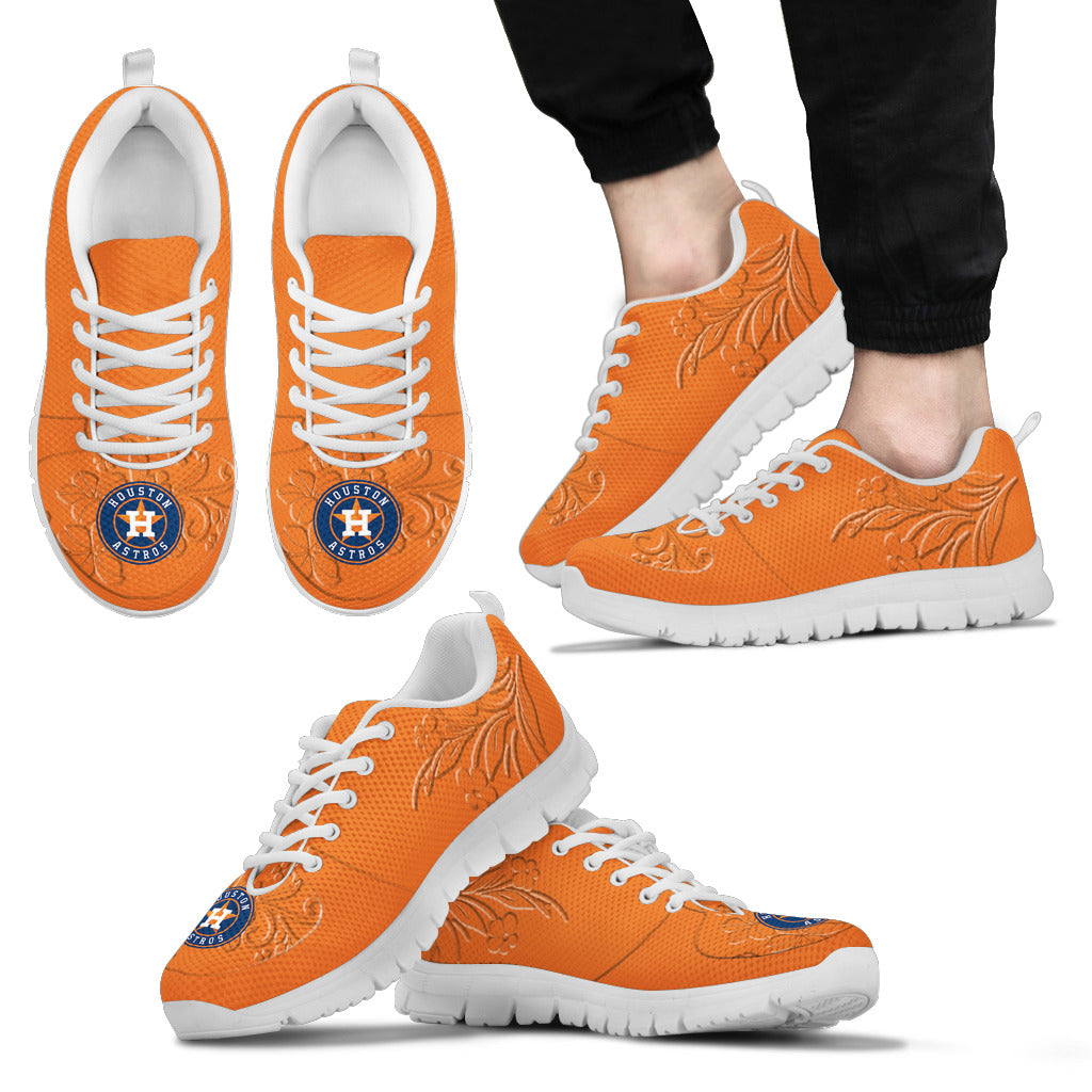 Lovely Floral Print Houston Astros Sneakers