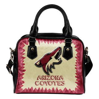 Jagged Saws Mouth Creepy Arizona Coyotes Shoulder Handbags